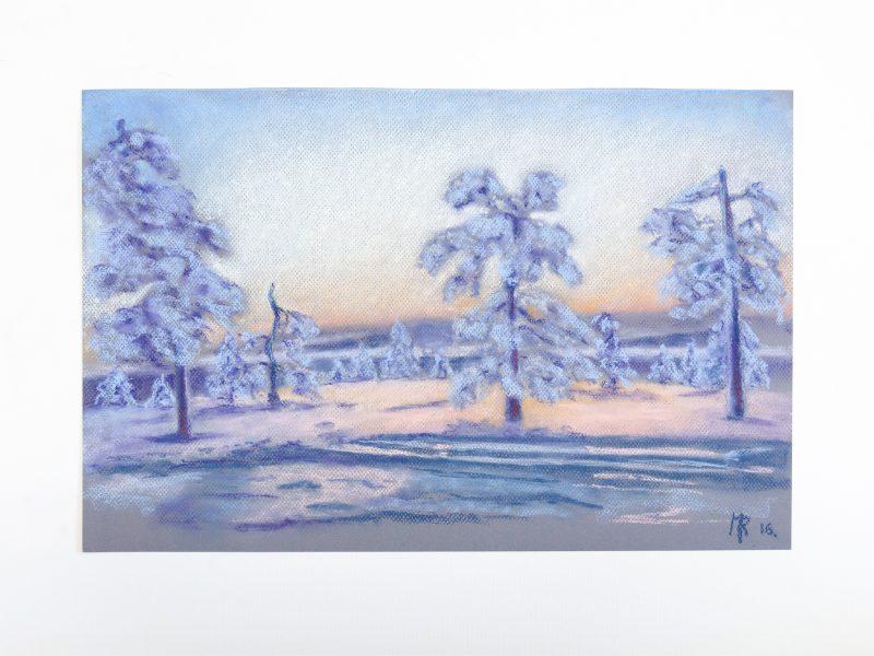 Sol de invierno en Finlandia