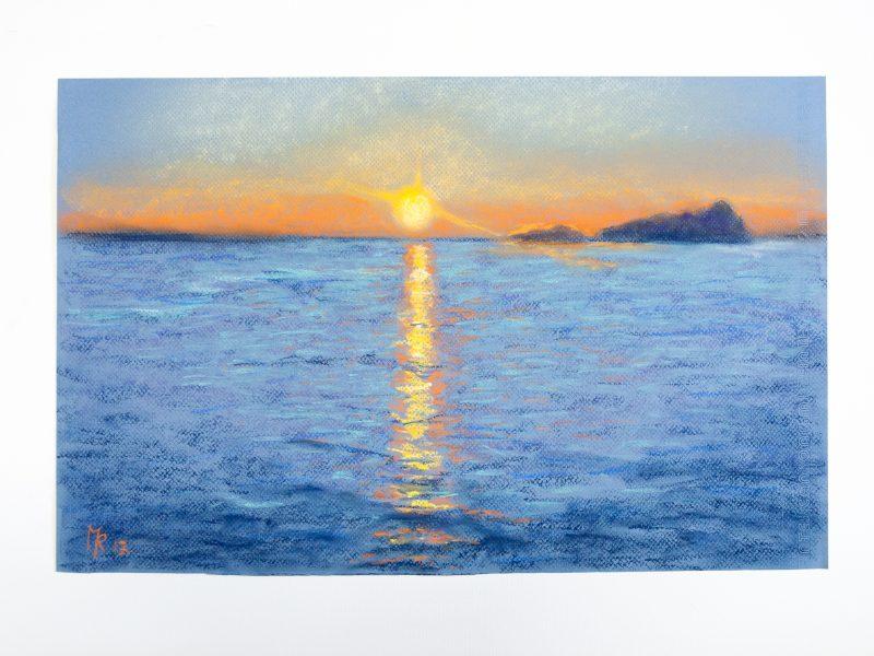 Marina, puesta de sol